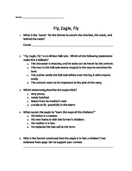 "3rd Grade Reading Street - Unit 4.5 ""Fly, Eagle, Fly"" FSA Test Questions"