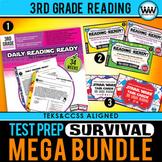 3rd Grade Reading - TEST PREP SURVIVAL MEGA BUNDLE - STAAR / TEKS Aligned