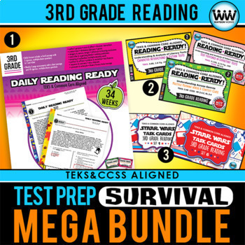 3rd Grade Reading TEST PREP SURVIVAL MEGA BUNDLE STAAR / NEW ELAR TEKS