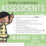3rd Grade Reading Tests   Digital and Printable BUNDLE
