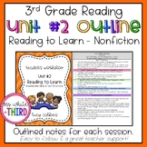 3rd Grade - Reading Unit #2 Reading to Learn Outline