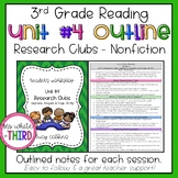 3rd Grade - Reading Unit #4 Research Clubs Outline