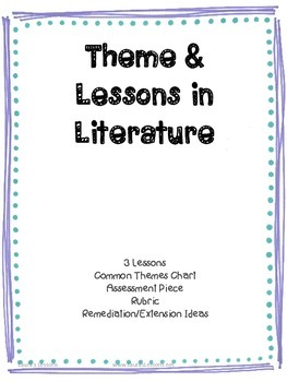 3rd Grade Reading Unit: Theme
