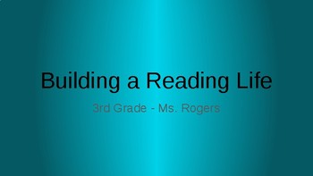 3rd Grade Reading Units of Study_Building a Reading Life