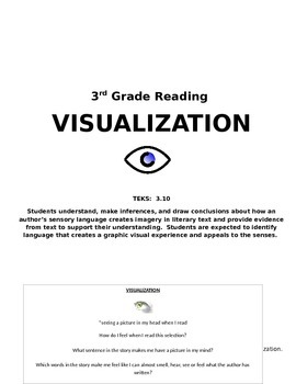 3rd Grade Reading Visualization TEKS 3.10