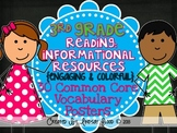3rd Grade Reading Vocabulary Posters: Reading Informational Resources