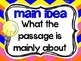 3rd Grade Reading Vocabulary Posters: Reading Informationa