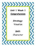 3rd Grade Reading WONDERS Skill Signs Chevron Theme