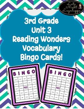3rd Grade Reading Wonder Unit 3 Vocabulary BINGO!