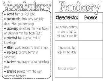 3rd Grade Reading Wonders Interactive Notebook--Freebie