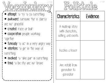 3rd Grade Reading Wonders Interactive Notebook-Unit 2