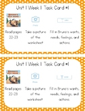 3rd Grade Reading Wonders Seesaw Task Cards Units 1-5 BUNDLE