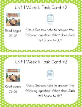 3rd Grade Reading Wonders Seesaw Task Cards Units 1-5 BUNDLE