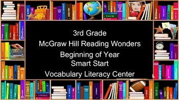 3rd Grade Reading Wonders Smart Start Vocabulary Task Cards