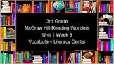 3rd Grade Reading Wonders Unit 1 Week 3 Vocabulary Task Cards
