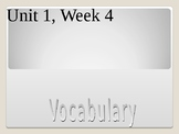 3rd Grade Reading Wonders, Unit 1, Week 4 Vocabulary Powerpoint
