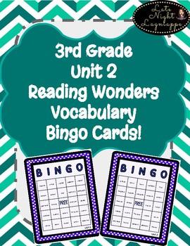 3rd Grade Reading Wonders Unit 2 Vocabulary BINGO!