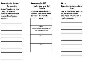 3rd Grade Reading Wonders Unit 3 Week 3 Foldable