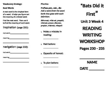 3rd Grade Reading Wonders Unit 3 Week 4 foldable