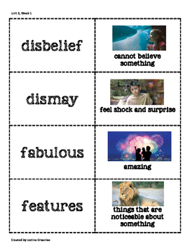 3rd Grade Reading Wonders Vocabulary Cards With Pictures Unit 3