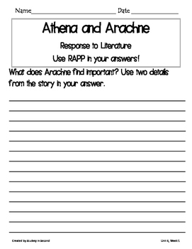 Reading Wonders Companion 3rd Grade WRITTEN RESPONSE {Unit 6}