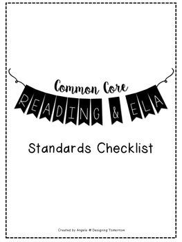 3rd Grade Reading, Writing, and ELA Standards Checklist