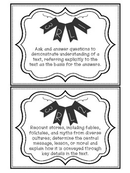 3rd Grade Reading, Writing, and Grammar Common Core Standards Wall Signs