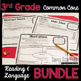 3rd Grade Reading and Language Graphic Organizers Common C
