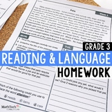3rd Grade Reading and Language Homework