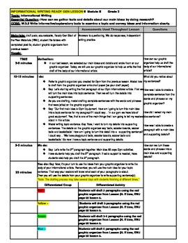 3rd Grade Ready Gen Module B Informational Writing Lesson Plan #6