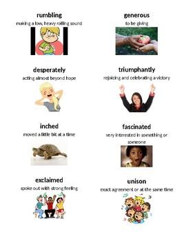 3rd Grade Ready Gen Unit 1 Module B Vocabulary Cards