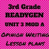 3rd Grade Ready Gen Unit 3 Module A Writing Lesson Plan Bundle 2015-2016 Edition