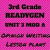 3rd Grade Ready Gen Unit 3 Module A Writing Lesson Plan Bundle