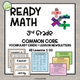 3rd Grade Ready Math Vocabulary Cards COMMON CORE Scope &