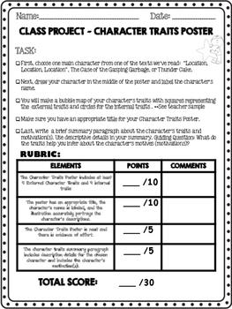 3rd Grade ReadyGen 2014 Unit 1, Mod A Character Traits ...
