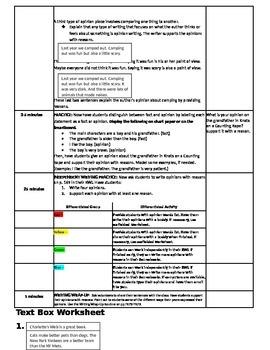 3rd Grade ReadyGen WRITING Unit 3 Module A Lesson #1