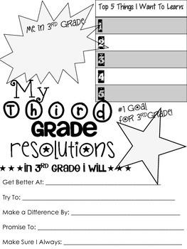 3rd Grade Resolution Sheet