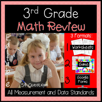 Measurement and Data Review for 3rd Grade