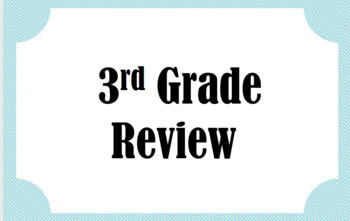 3rd Grade Review Bundle