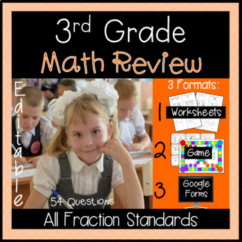 3rd Grade Fractions Review