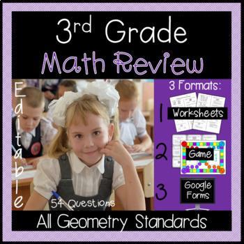 Geometry Review for 3rd Grade