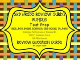 3rd Grade Review Question Card Bundle CC, GPS, Georgia Milestones Test Prep