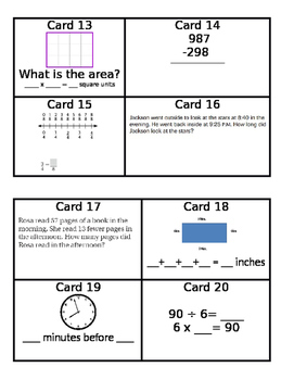 3rd Grade Review Scoot