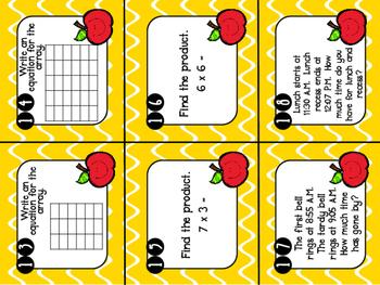 *Best Seller!*  3rd Grade Review Task Cards