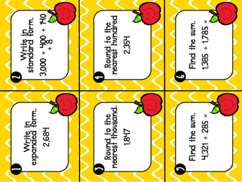 3rd Grade Review Task Cards