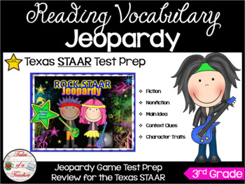 3rd Grade Rock-STAAR Jeopardy (STAAR Reading Review)