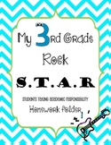 3rd Grade Rock Star Homework folder cover