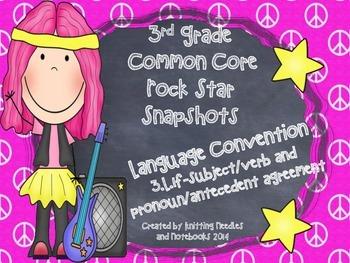 3rd Grade Rock Star Snapshots 3.L.1f: Subject/Verb ,Pronoun/Antecedent Agreement