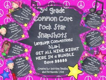 3rd Grade Rock Star Snapshots  3.L.a-i: All 9 Language Sta