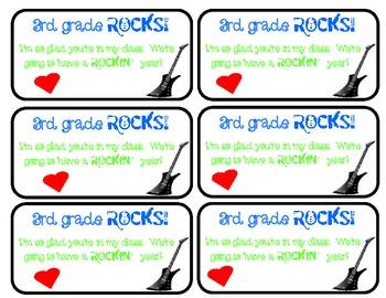 3rd Grade Rocks Cards